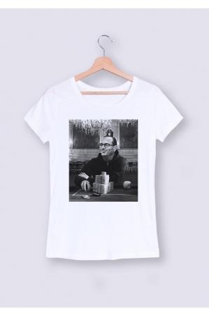 Gambling Chirac T-shirt Femme Col Rond