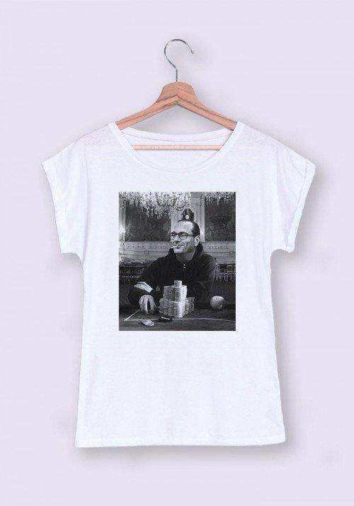 Gambling Chirac  T-shirt Femme Manches Retroussées