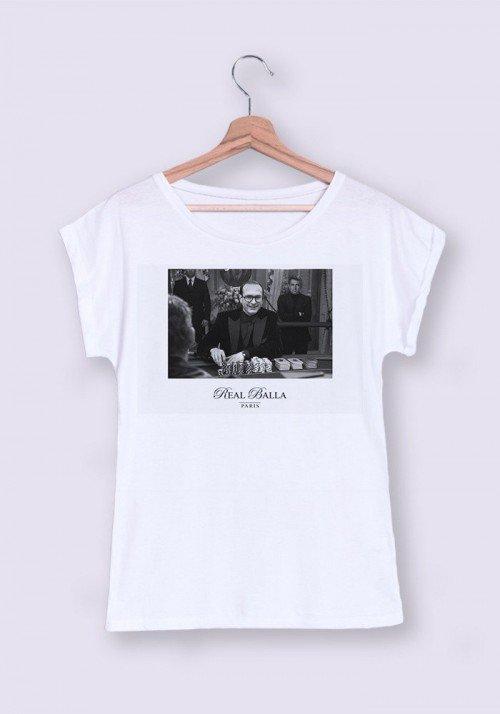 Chirac Casino T-shirt Femme Manches Retroussées