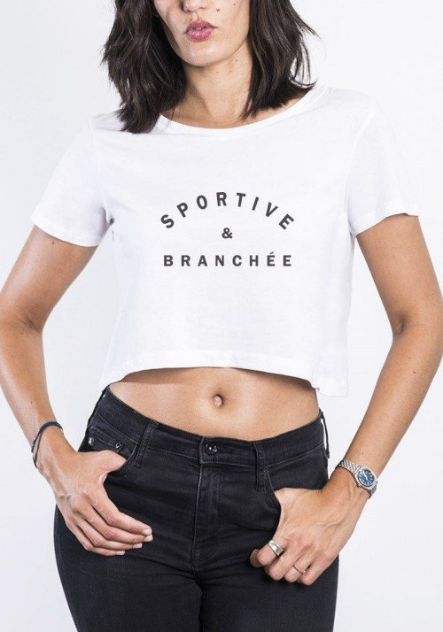 Crop Top Sportive & Branchée