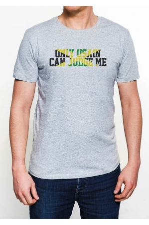 Only Usain can Judge Me  T-shirt Homme Col Rond