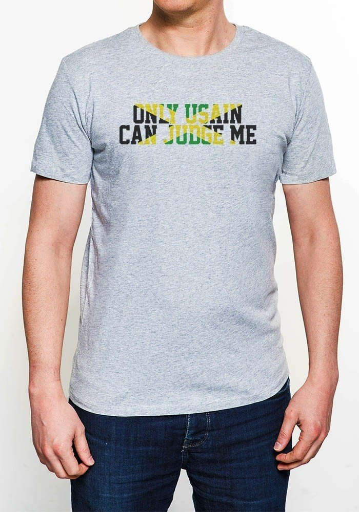 Tshirts Homme Only Usain can Judge Me