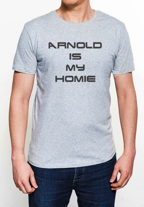 Arnold is My Homie T-shirt Homme Col Rond