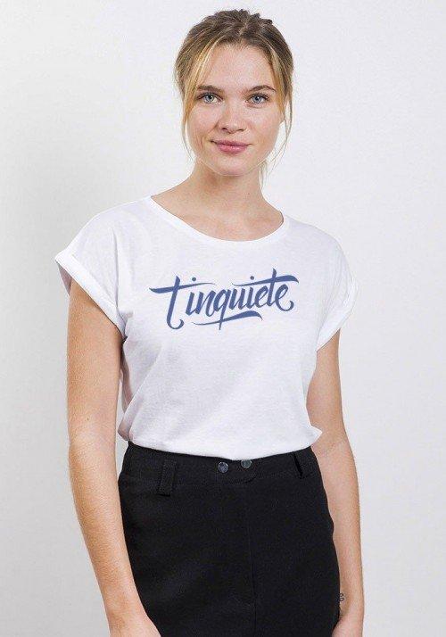 T'inquiète T-shirt Femme Manches Retroussées