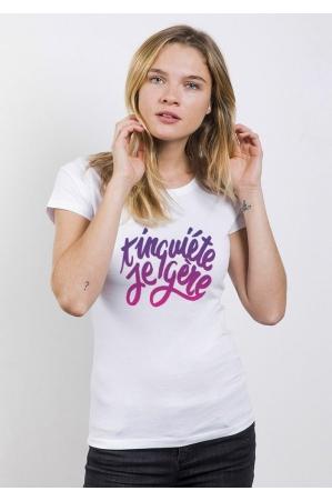 T'inquiète je gère T-shirt Femme Col Rond