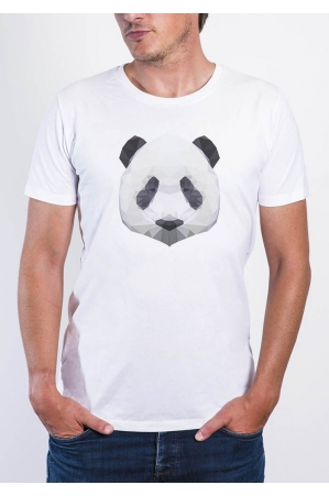 Panda T-shirt Homme Col Rond
