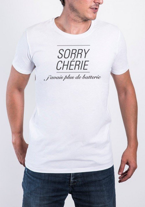 Promis Sorry Chérie T-shirt Homme Col Rond