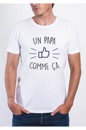 Un papa comme ça T-shirt Homme