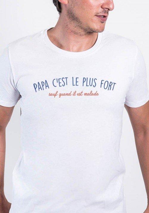 Papa c'est le plus fort T-shirt Homme