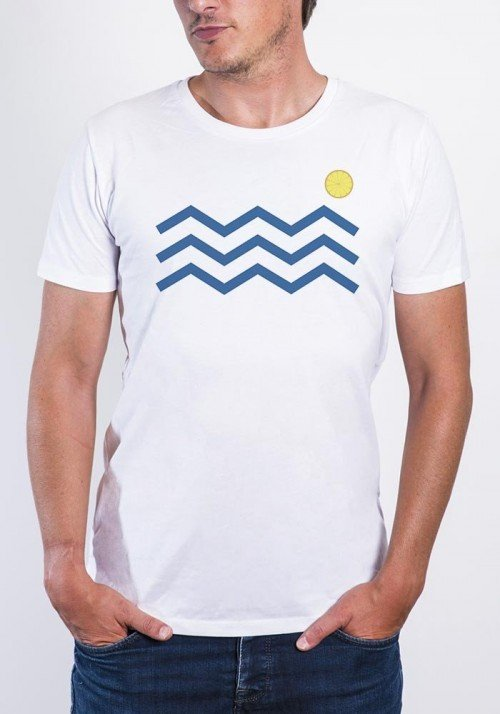 Vague citrons T-shirt Homme