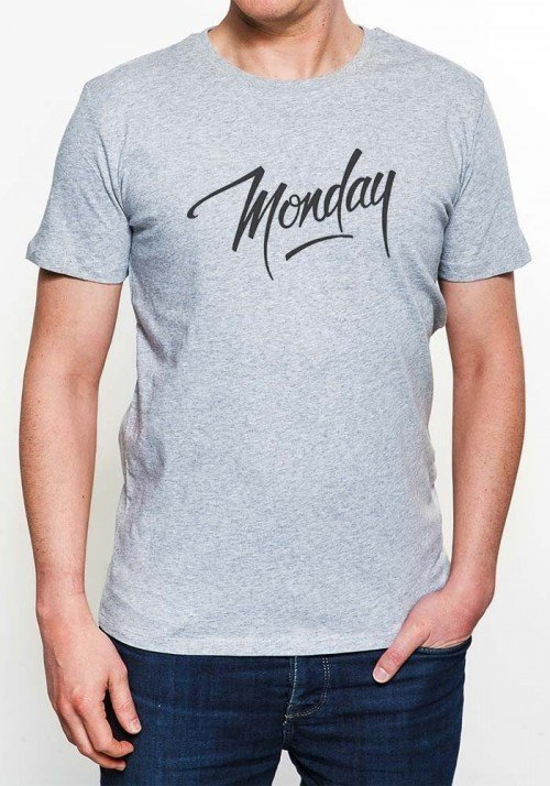 Monday T-shirt Homme Col Rond