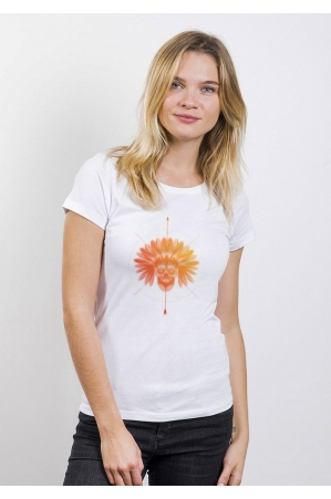 Indien T-shirt Femme Col Rond