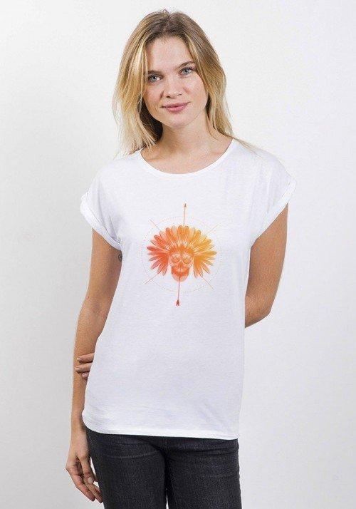 Indien T-shirt Femme Manches Retroussées
