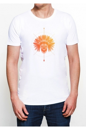 Indien T-shirt Homme Col Rond