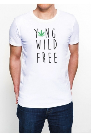 Young Wild and Free T-shirt Homme Col Rond