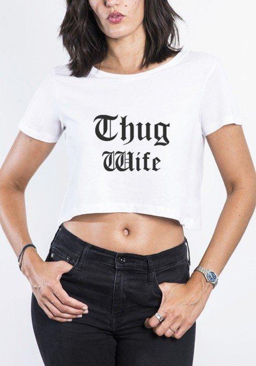 Crop Top Femme Thug Wife