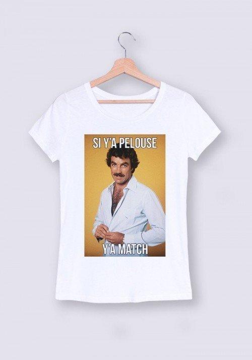 Si y'a pelouse y'a match T-shirt Femme