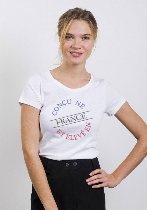Origine France T-shirt Femme Col Rond
