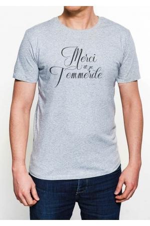 Merci et je t'emmerde T-shirt Homme Col Rond