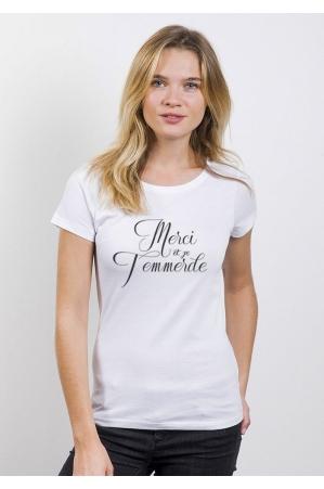Merci et je t'emmerde T-shirt Femme Col Rond