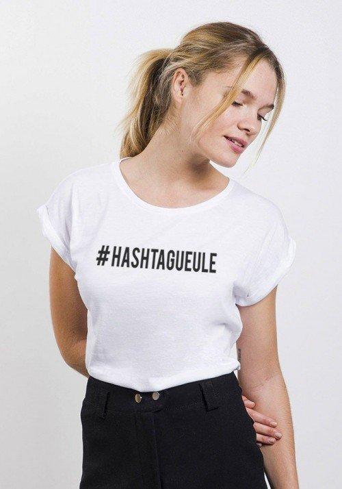 Hashtagueule T-shirt Femme Manches Retroussées
