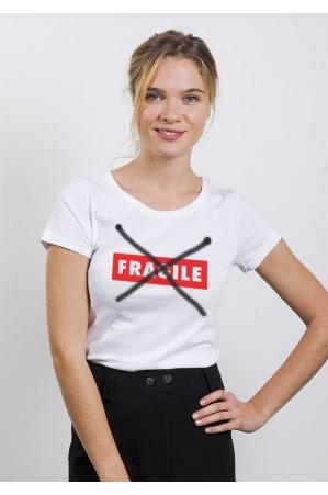 Fragile T-shirt Femme Col Rond