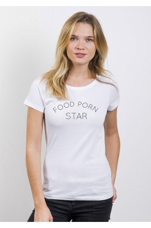 Food Porn Star T-shirt Femme Col Rond