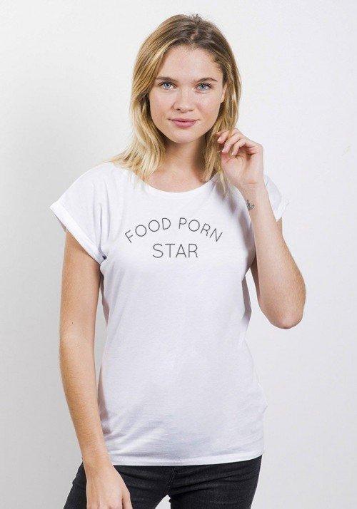 Food Porn Star T-shirt Femme Manches Retroussées