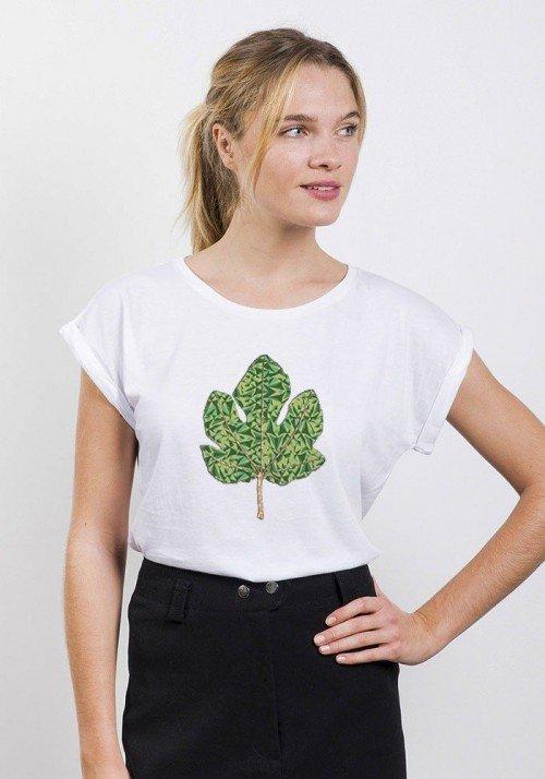 Figuier Tribute T-shirt Femme Manches Retroussées
