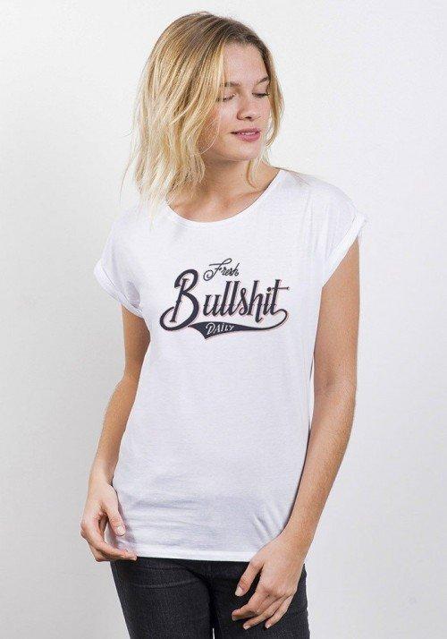 Fresh Bullshit T-shirt Femme Manches Retroussées