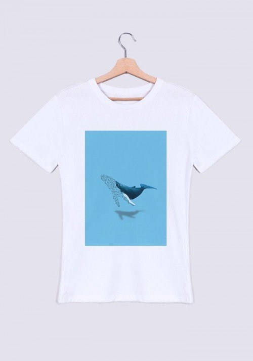 Baleine T-shirt Homme Col Rond