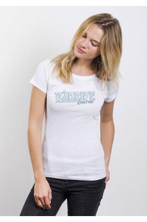Promis J'arrive T-shirt Femme Col Rond
