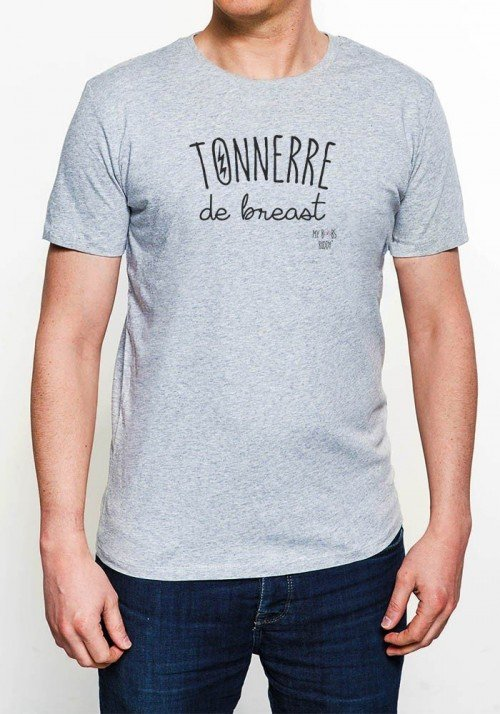 Tonnerre Homme T-shirt Homme Col Rond
