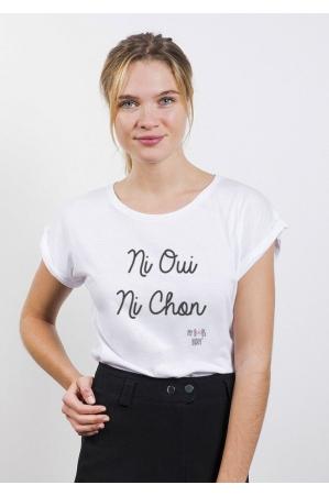 Ni Oui Ni Chon T-shirt Femme Col Rond