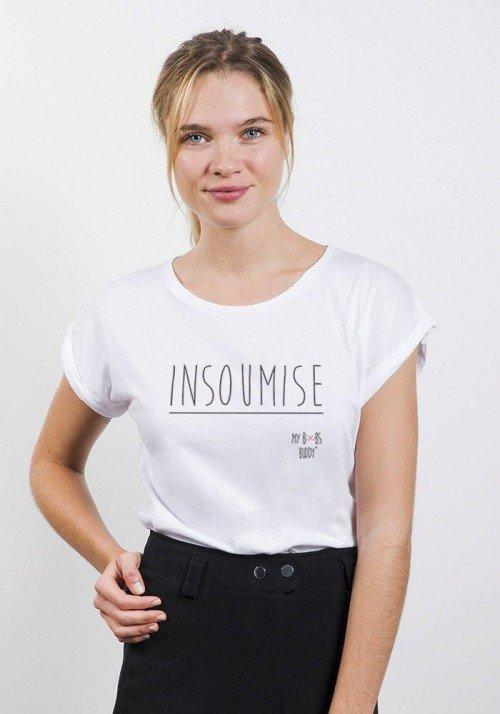 Insoumise T-shirt Femme Manches Retroussées