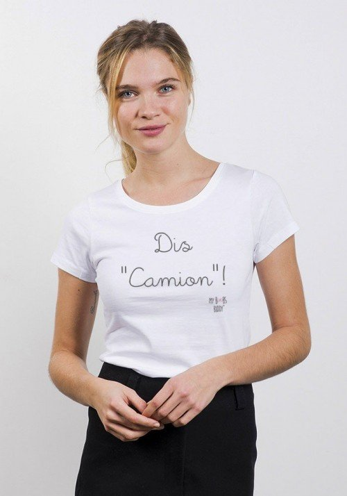 Dis Camion T-shirt Femme Col Rond