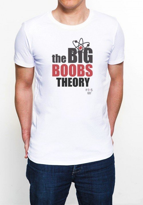 Big Boobs Theory T-shirt Homme Col Rond