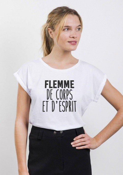 Flemme de corps et d'esprit T-shirt Femme Col Rond - JLG