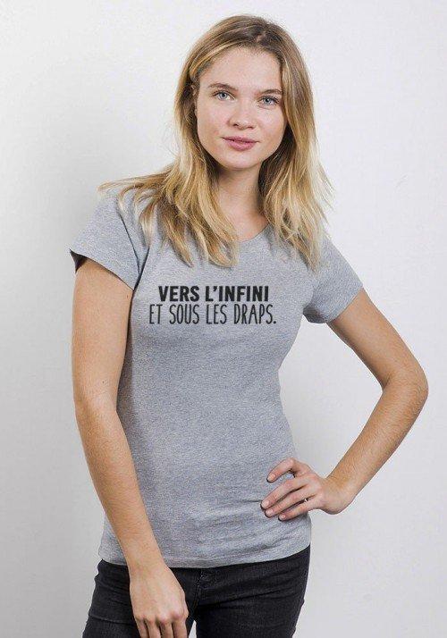 Vers l'infini et sous les draps T-shirt Femme Col Rond - JLG