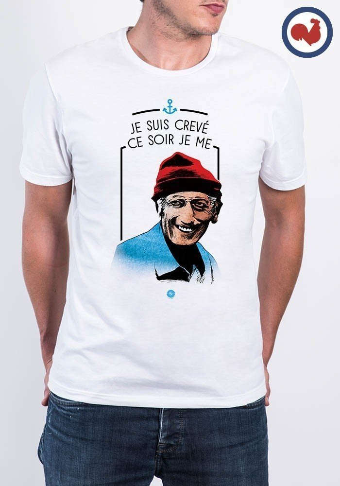 Cousteau T-shirt 100% Made in France