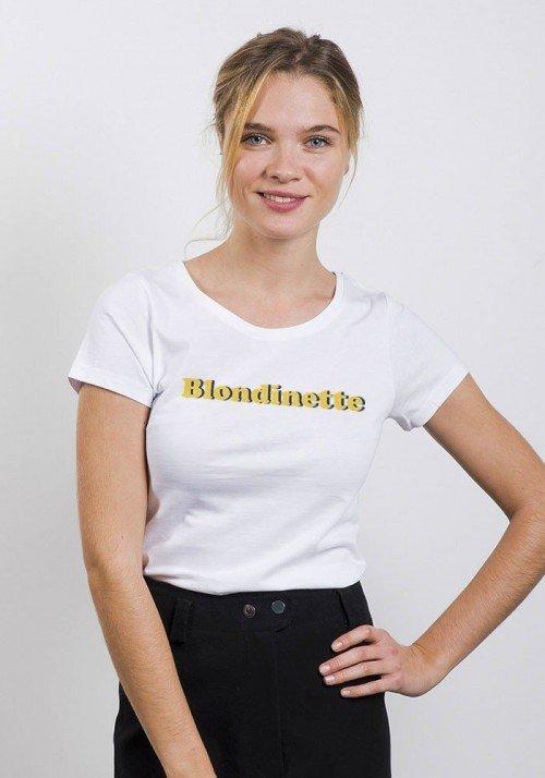 Blondinette - Tshirt Col rond femme