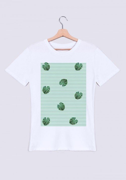 Feuilles rayées - T-shirt Homme