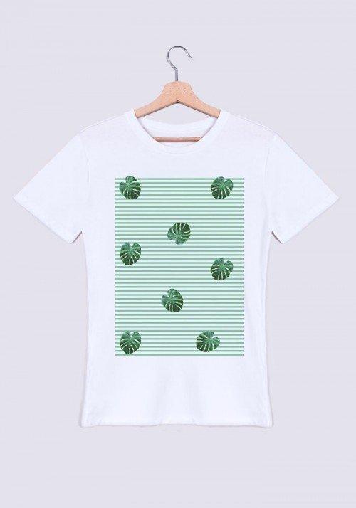 feuilles rayées   Tee-shirt Homme