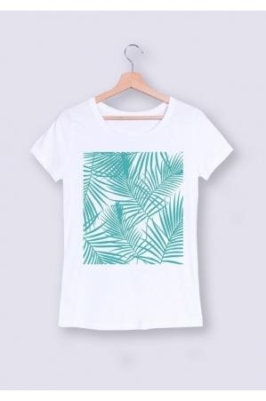 Palmier Turquoise - T-shirt Femme