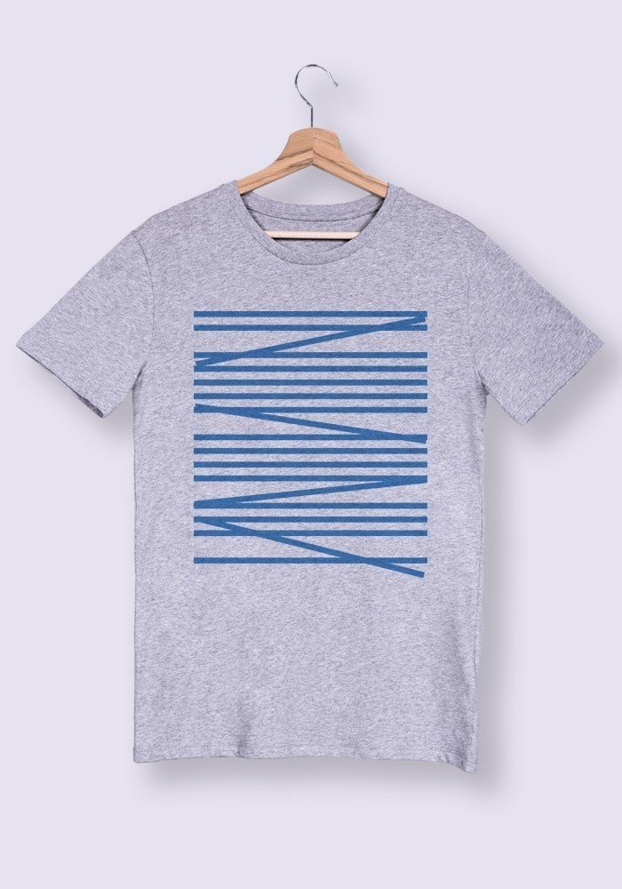 Palmier Rayures - Tshirt Col rond Homme