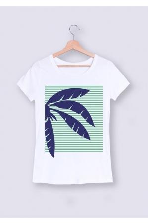 Palmier bleu - T-shirt Femme