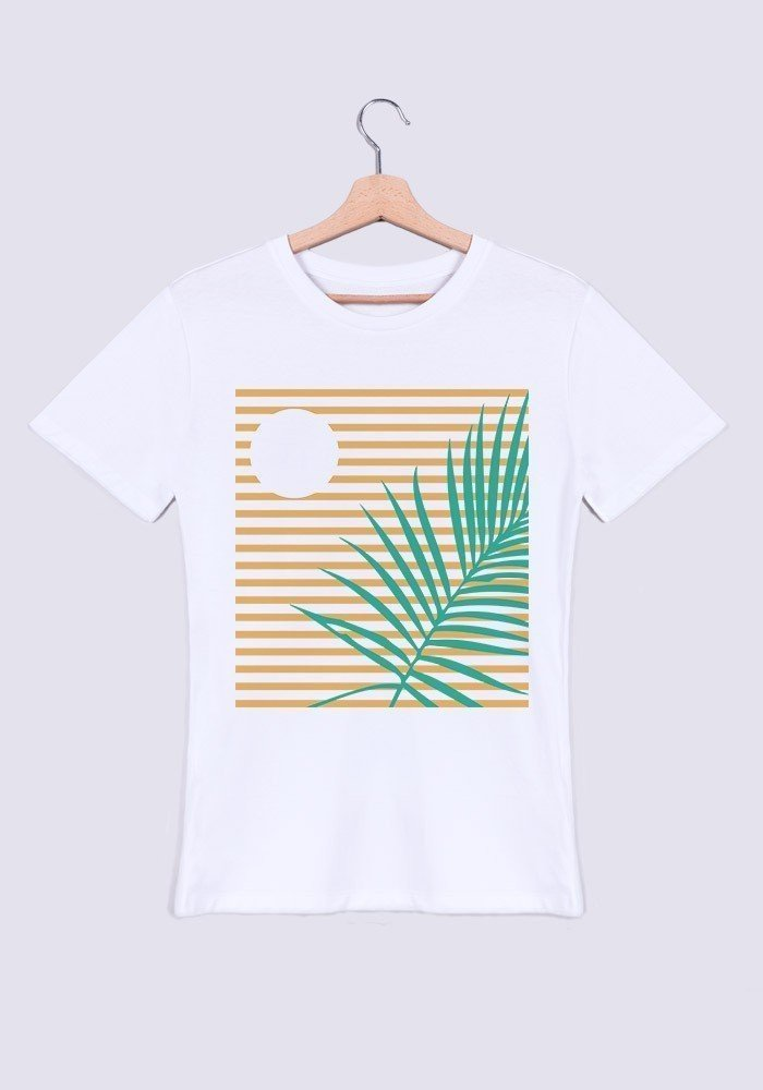 Palmier crépuscule Tee-shirt Homme