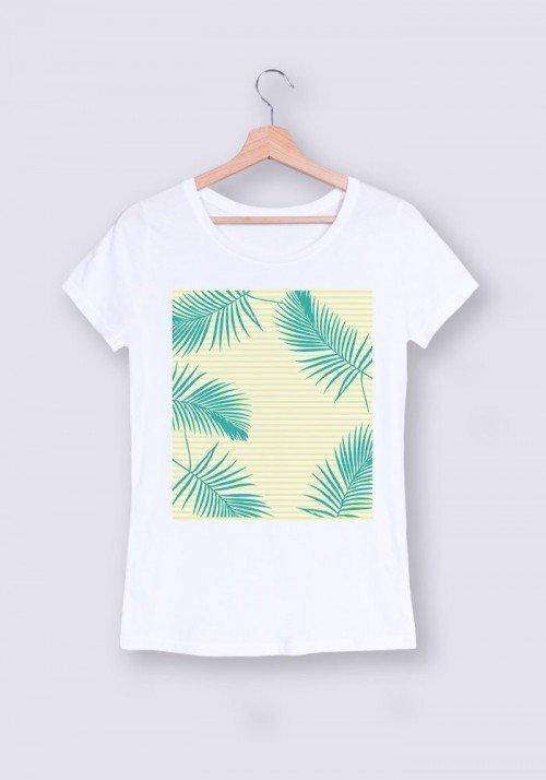 Plage et palmes - T-shirt Femme