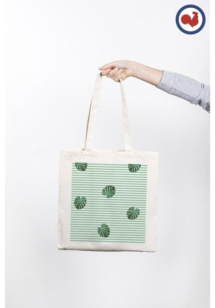 Feuilles rayées - ToteBag Made In France