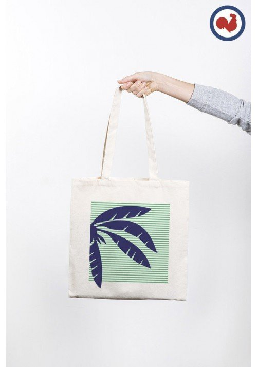 Palmier bleu - ToteBag Made In France